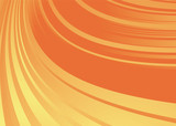 Orange and yellow abstract background with flowing fluid lines poster
