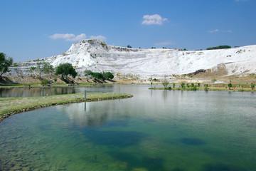 Lake in Pamukkale. Hierapolis. Turkey 2008.