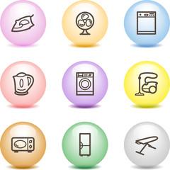 Color ball web icons, set 18