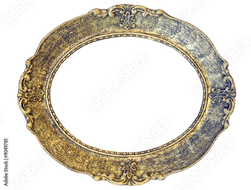 Oval baroque picture frame