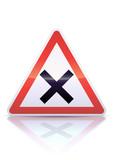 Intersection avec priorité à droite (reflet métal) poster