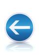 Obligation de tourner à gauche avant le panneau (reflet métal)