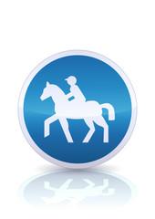 Chemin obligatoire pour cavaliers (reflet métal)