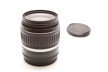 Isolated black photo lens