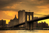 brooklyn bridge sunset-