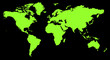 world map green with Vector Path