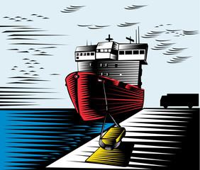 Boat at the docks