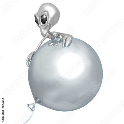 Alien On Balloon