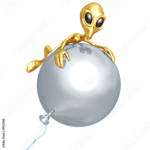 Alien On BalloonAlien On Balloon