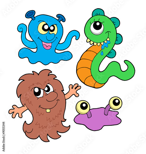 Spoed canvasdoek 2cm dik Schepselen Monster collection 3