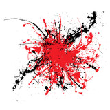 Ink splat two color tone ideal background or icon poster