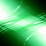 green abstract background with some smooth lines in it poster