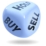 Stock Market Financial Dice Roll BUY SELL HOLD poster