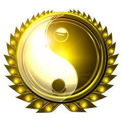 yin yang symbol on a white background