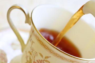 freshly brewed cup of tea