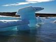 Boat between icebergs in Jokulsarlon, Iceland