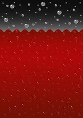 Sparkling red liquid background