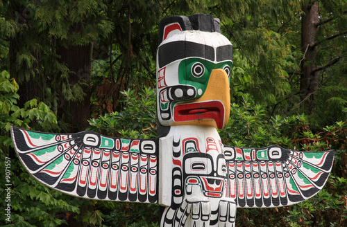 Totem Pole in Vancouver BC - 9071557