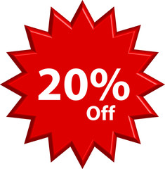 Sale - Twenty Percent Off