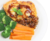 Shepherds Pie with vegetables and gravy poster