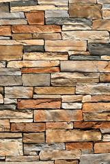An irregular assortment of a stone wall background.