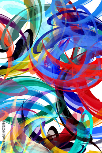 Fototapeta Colorful background in abstract painting style