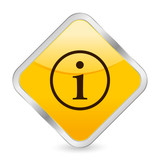 info yellow square icon poster