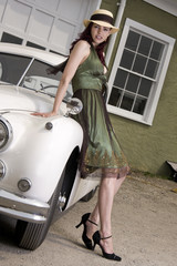 Beauty and the sports car