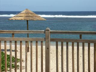 balcon sur l'océan