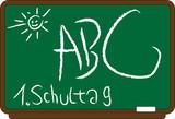 Illustration Schultafel ABC poster