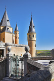Ancient picturesque palace of the Spanish kings in Segovia poster