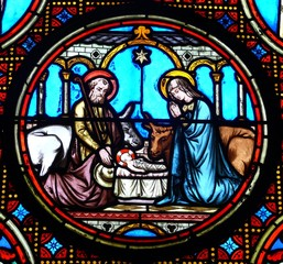 la nativité christmas steelglass