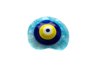 Evil eye on white background