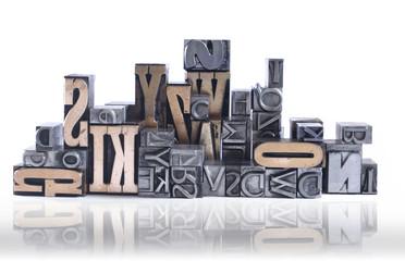 letter blocks for lead typesetting