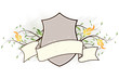Vector grunge floral heraldic plate