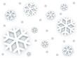 Snow falling down pattern