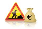Budget travaux en euros (reflet) poster