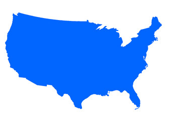 USA Map blue