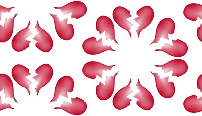 Broken Heart Seamless Tile Pattern Background 74
