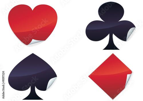 Stickers des symboles de cartes à jouer (détouré)