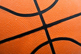 Ball basketball increased orange with black lines poster
