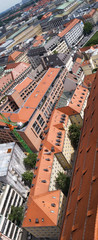 Tile roofs of Munich (Munchen), Germany (3)