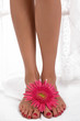 Beautiful legs with flower
