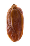 Isolated macro image of an arabian date. poster
