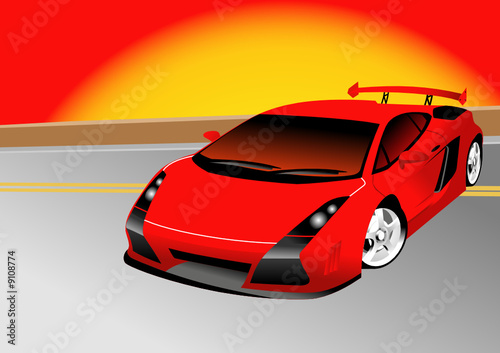 Foto op Canvas Cars Fantastic Car Series