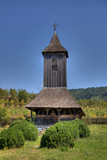Wooden church in Nadasa, Romania. poster