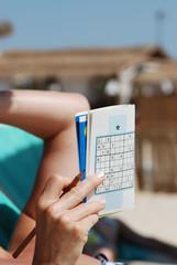 sudoku sur la plage