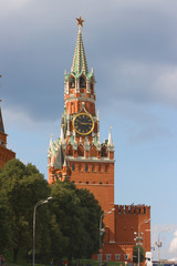 Spasskaya tower in the Read Square within the Kremlin.