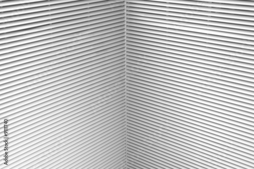 Background made of many skewed industrail blinds