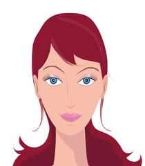 Illustration portrait femme rousse